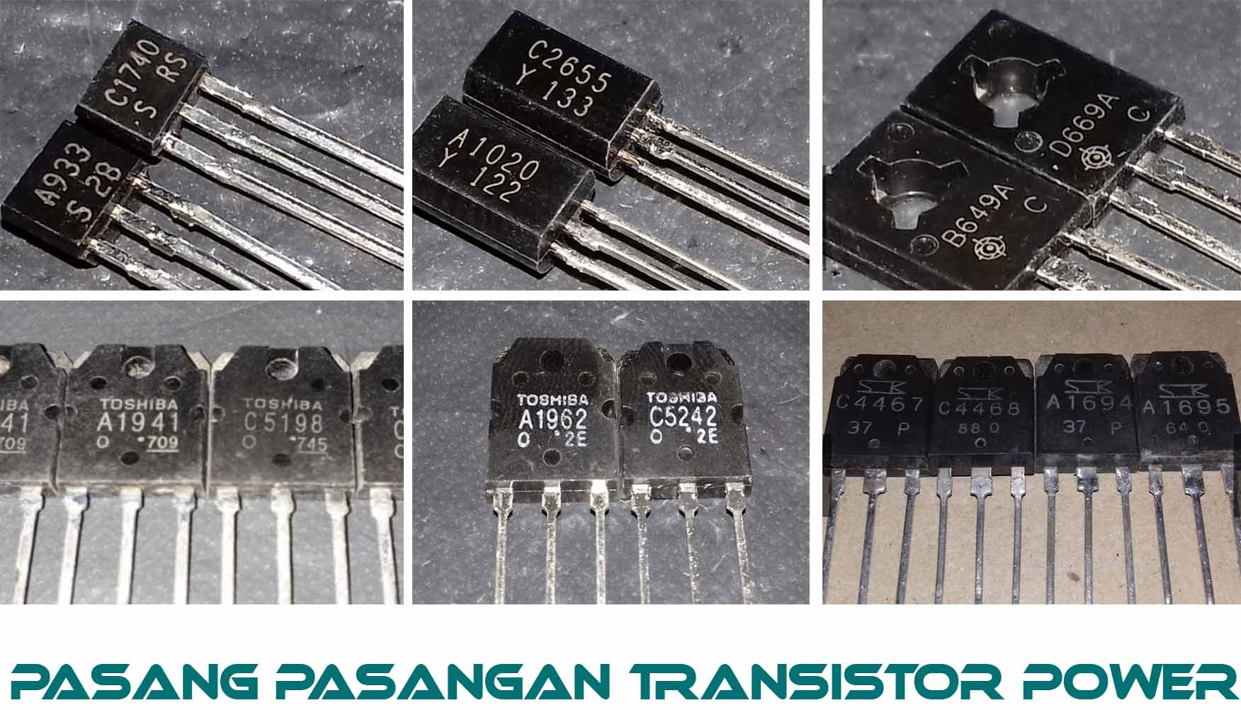 Pasangan Transistor Untuk Power Amplifier